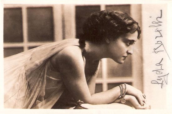 Portrait of Lyda Borelli,  1920 Italian postcard by A.G.F.