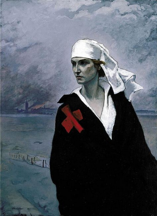 Romaine Brooks -The Cross of France, Ida Rubinstein , 1914