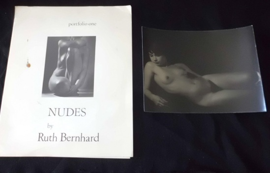 Ruth Bernhard Cover and one plate from porfolio of 6 Nudes by Ruth Bernhard,printed in 1968