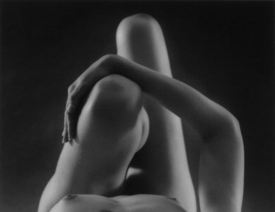 Ruth Bernhard- Knees and Arm, 1976