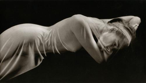 Ruth Bernhard- Veiled Nude, 1968 From her book The Eternal Body