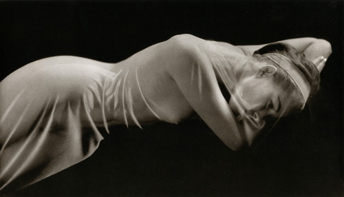 Ruth Bernhard- Veiled Nude, 1968 From her book The Eternal Body