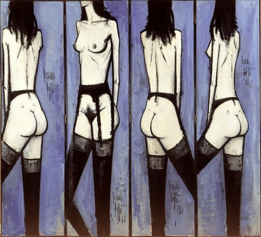 Bernard Buffet- paravents aux nus,1960