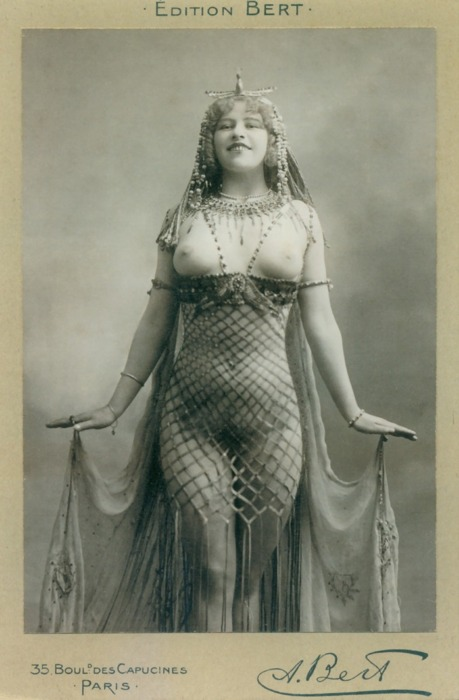 Bert- Burlesque Dancer, 1910's french, postcard