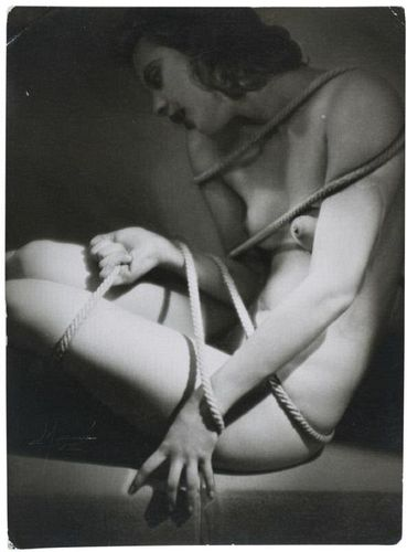 Studio Manassé- nude and ropes, 1933.