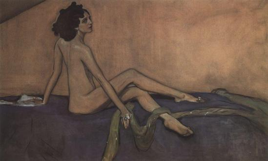 Valentin Serov - Portrait of Ida Lvovna Rubinstein (as Salome), 1910