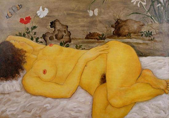 Xi  Pan-Nude with Chinese Composition 2005
