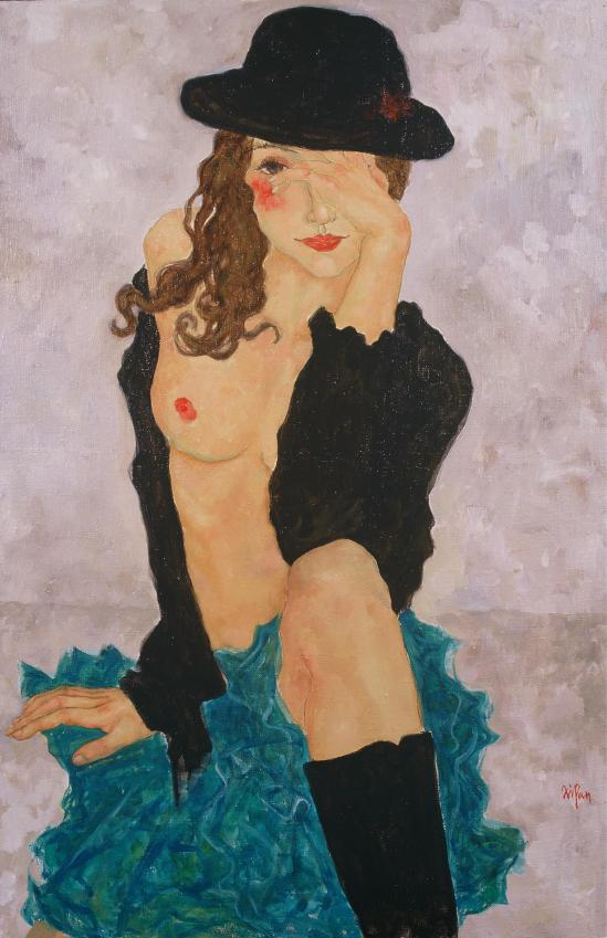 Xi  Pan-Woman in Black Hat,2004