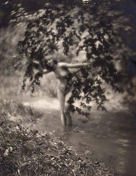 Charles J Cook -Female Nude In Stream, 1920
