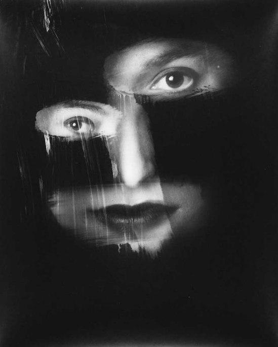 David Seidner, Caroline Ellen, Brushstroke,1986