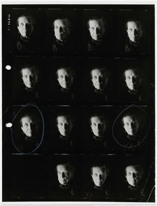 David Seidner-louise bourgeois contact sheet ,1992
