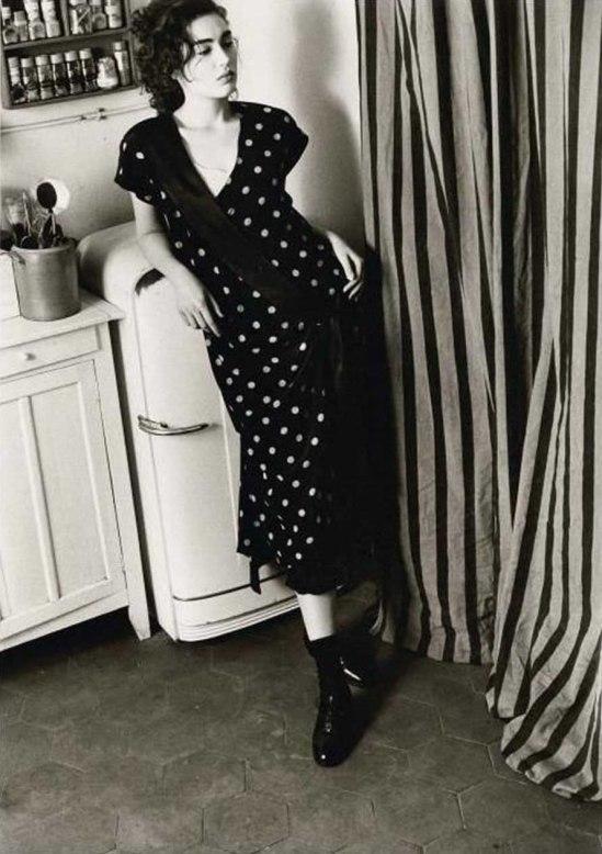David Seidner Woman Leaning on Refrigerator c. 1990