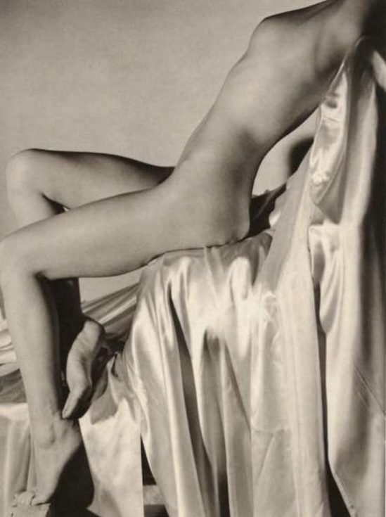 Horst P. Horst – Lisa on Silk, New York, 1940 for vogue