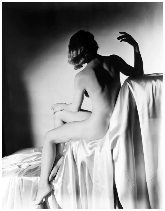 Horst P. Horst – Lisa on Silk, New York, 1940