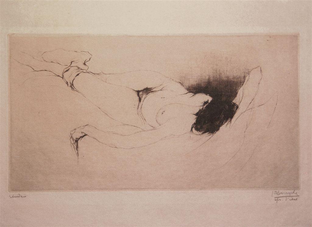 Jules De Bruycker- naakt, 1916 ( eaux fortes -eatchings