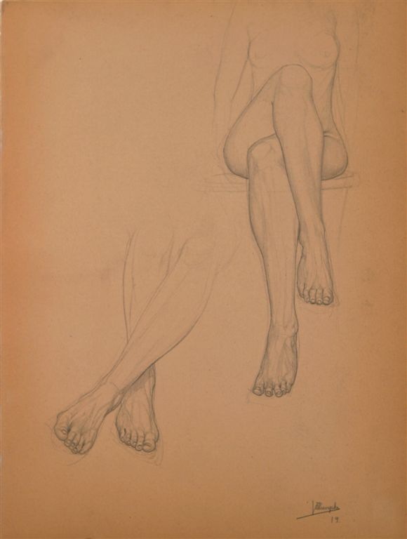Jules De Bruycker- naakt, 1919 Dessins - Drawings