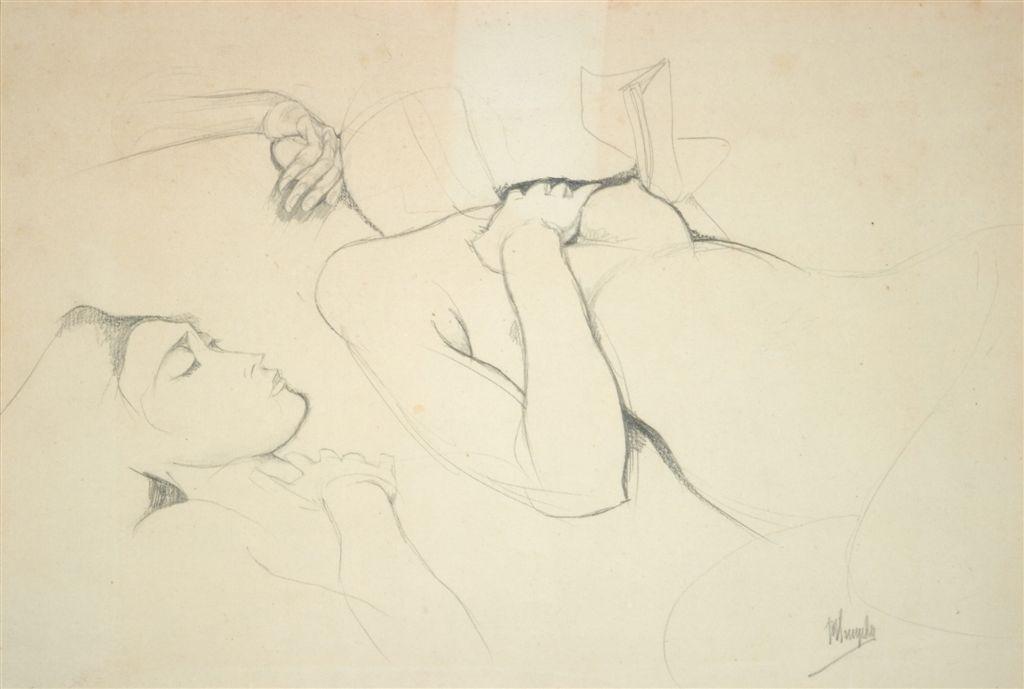 Jules De Bruycker- naakt, 1920-25 Dessins - Drawings