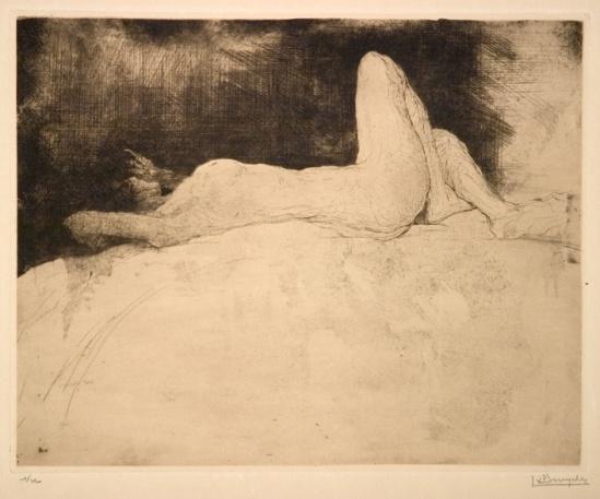 Jules De Bruycker- naakt, 1920 ( eaux fortes -eatchings)