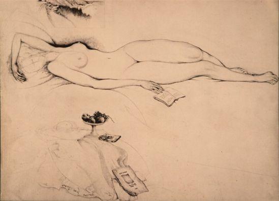 Jules De Bruycker- naakt, 1925-37 ( dessin)