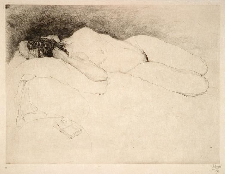 Jules De Bruycker- naakt, 1925 ( eaux fortes -eatchings)