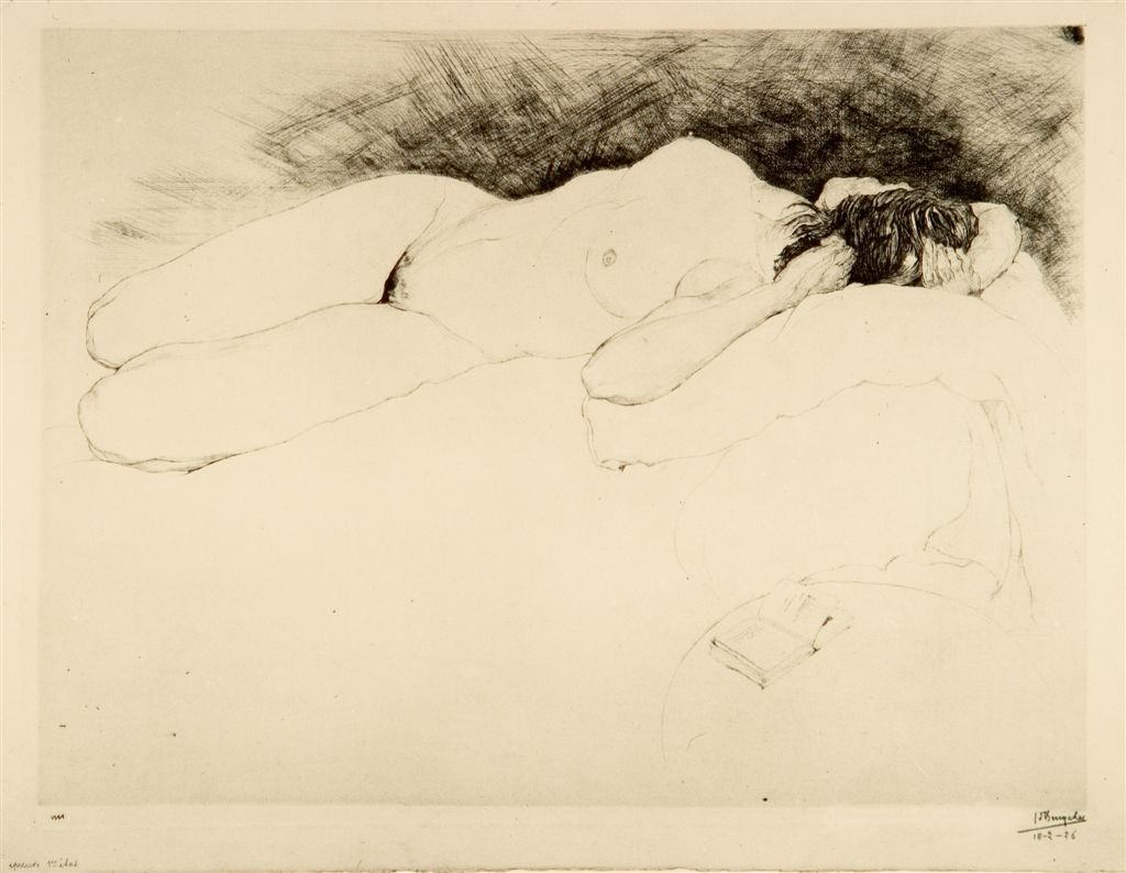 Jules De Bruycker- naakt, 1925 ( eaux fortes -eatchings