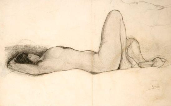 Jules De Bruycker- naakt, 1928 ( dessin)