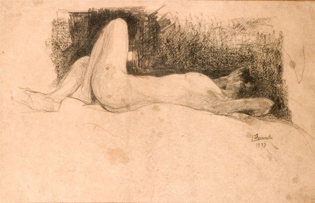 Jules De Bruycker- naakt, 1937 ( dessin)