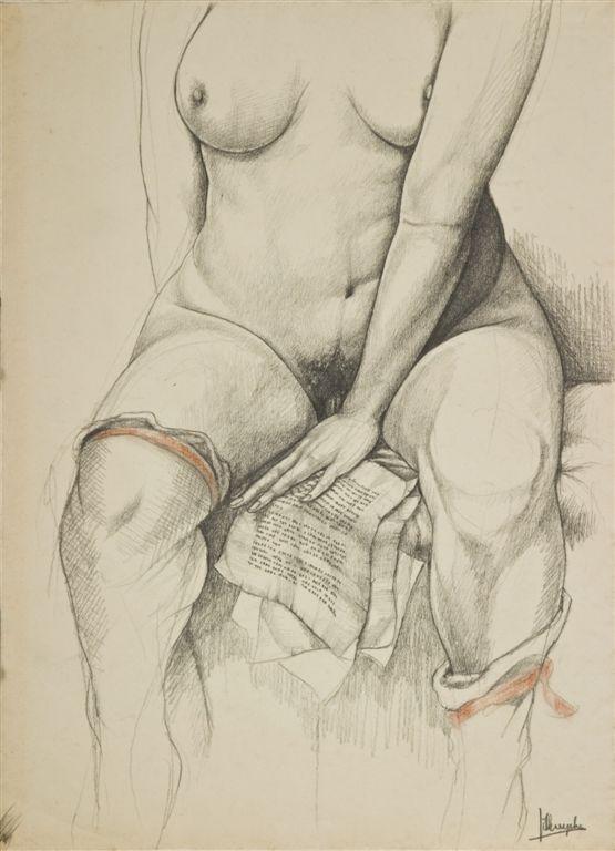 Jules De Bruycker- naakt, Dessins - Drawings 18