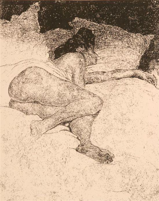 Jules De Bruycker- naakt, Nd ( eaux fortes -eatchings