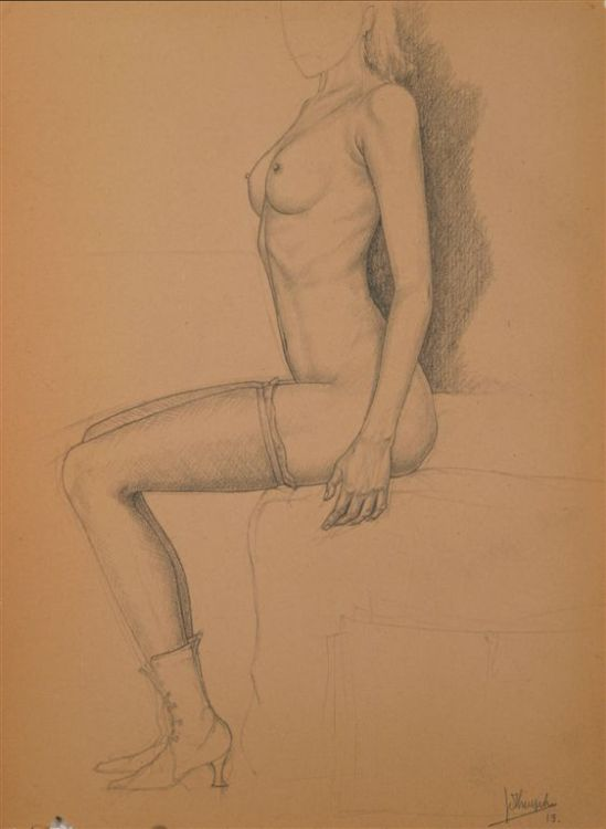 Jules De Bruycker- naakt,1919 Dessins - Drawings