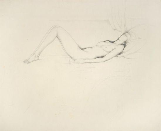 Jules De Bruycker- naakt,nd ( dessin)