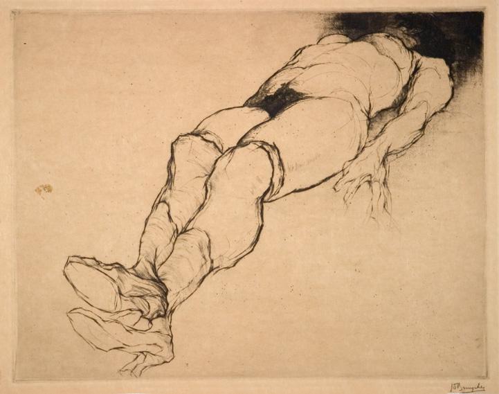 Jules De Bruycker- nu ,naakt, 1920 ( eaux fortes -eatchings)