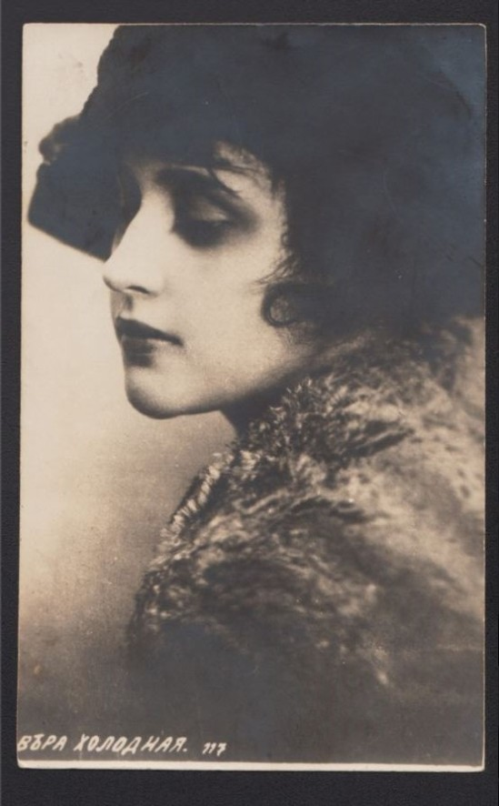 Vera Kholodnaya Photo Postcard, 1918-20s
