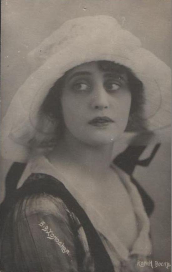 Vera Kholodnaya Photo Postcard, 1919.1