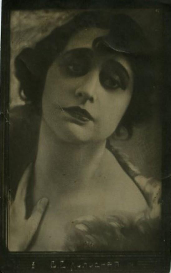 Vera Kholodnaya Photo Postcard, 1919