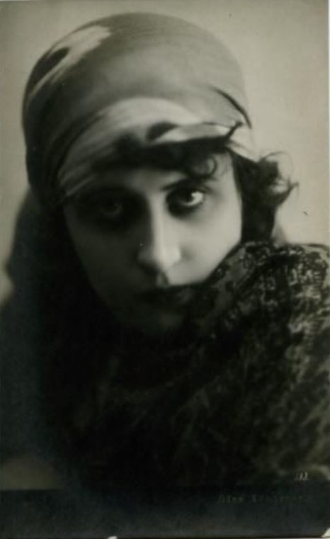 Vera Kholodnaya Photo Postcard, 1920s.2