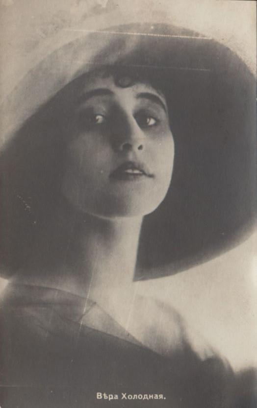 Vera Kholodnaya Photo Postcard, 1920s.