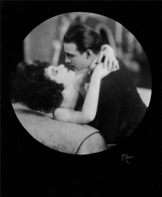 Alla Nazimova with Rudolph Valentino , in Camille, 1921, directed by Ray C.Smallwood,