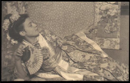 Franck Eugene-Friedel Wearing a Kimono, 1911