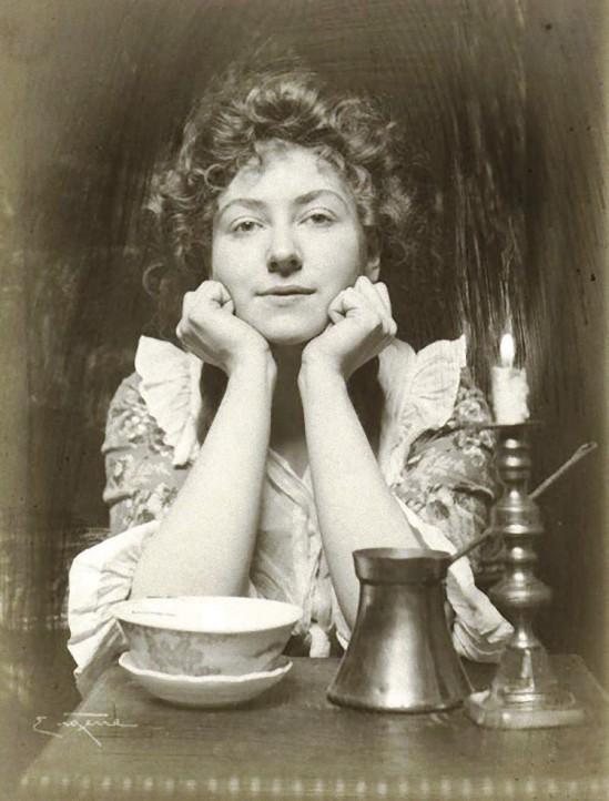 Frank Eugene- Lydia Leslie Lydie et la Chandelle. 1900s