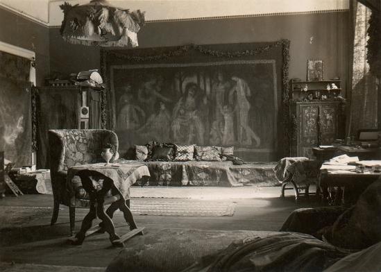 Frank Eugene- The Studio, photograph, platinum print, c.1910