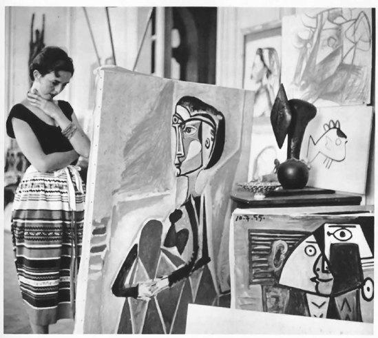Jacques Henri Lartigue - Florette at Picasso's studio, Cannes, 1955