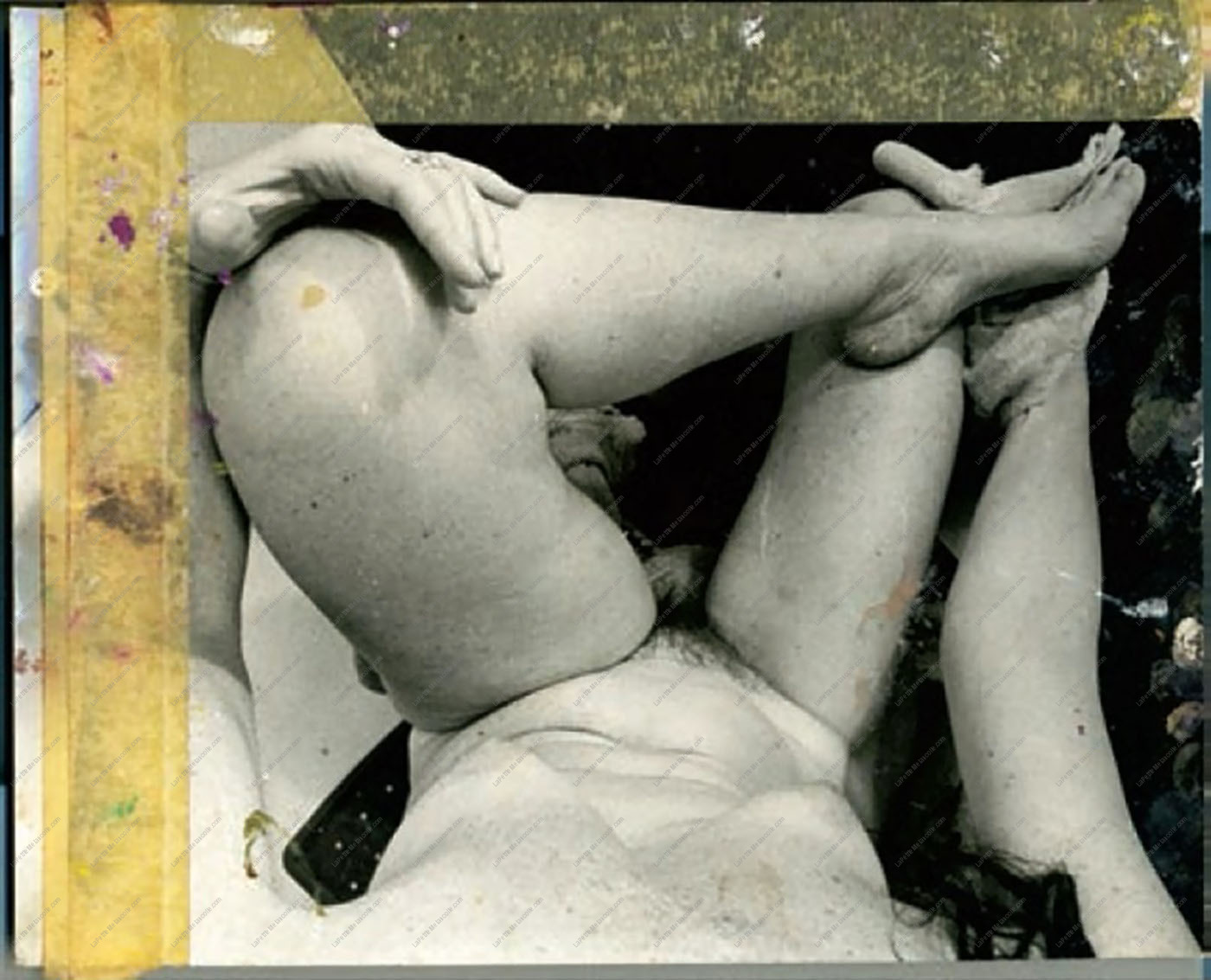Joan-Semmel- Reference photograph for Me Without Mirrors II, 1974, gelatin-silver-print personnal Scan