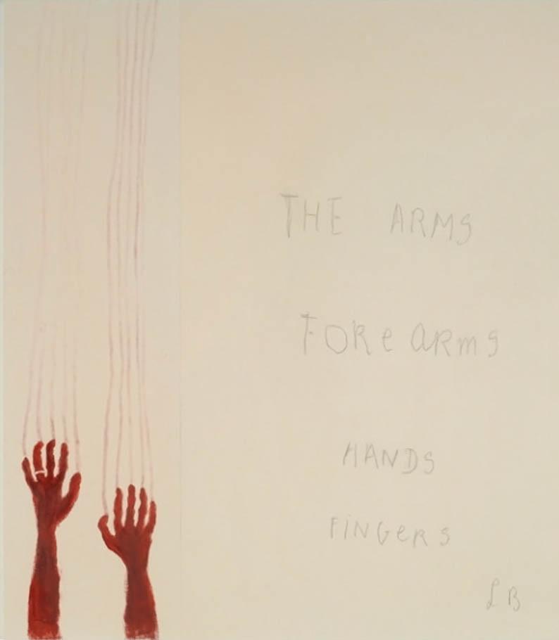 Louise Bourgeois, Extrême tension, 2007, Panneau 6, Mine graphite et estampe sur papier,