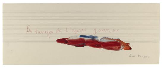 Louise Bourgeois-  Les tangos de l'après guerre , La Rivière Gentille, 2007 [Mixed media on paper]
