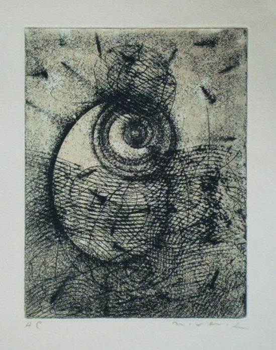 Max Ernst -Hommage à Rimbaud 1961, etching, aquatint
