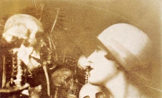 """ANONYME Dora Maar et les squelettes, vers 1927  from """"Les vies de Dora Maar - Bataille, Picasso et les surréalistes, 2000"""