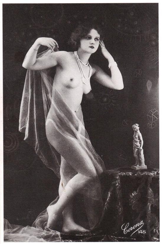 Corona Studios- Nude, postcard,  Paris, c.1920.