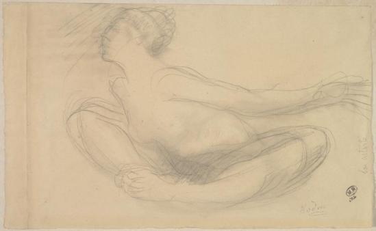 Auguste Rodin (1840-1917) - Astarté, après le danseur de Alda Moreno vers 1912 crayon et moignon