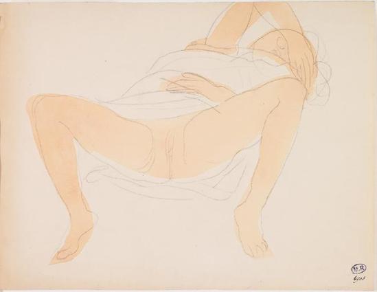 Auguste Rodin (1840-1917) -Les femmes sur les jambes avant et arrière à part, le graphite;  1900 aquarelle 1898